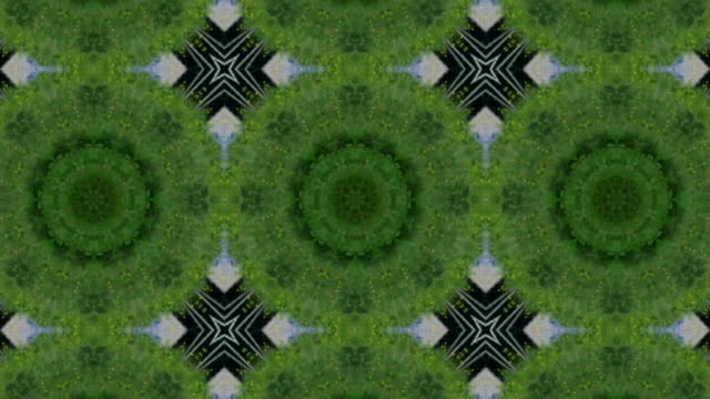 Abstract animation with hand drawn geometric kaleidoscope pattern video