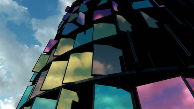 4K Abstract Architecture Background. video