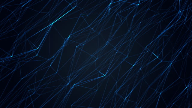 Abstract background blue polygonal waving surface and shining texture.