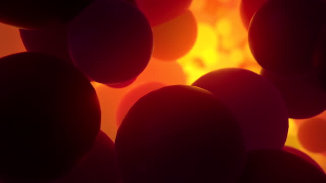 Abstract background breaking opening molecule atoms video