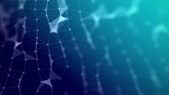 abstrakt bakgrund futuristisk dot point och anslutningsledning för nätverk cyber teknikkoncept med grunt skärpedjup mörkt och spannmål bearbetas - nod bildbanksvideor och videomaterial från bakom kulisserna