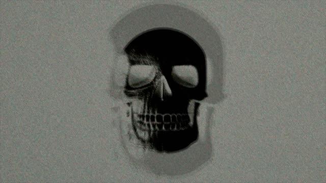 vidéos et rushes de abstract background halloween skull effrayant scintillement 18 - psychédélique