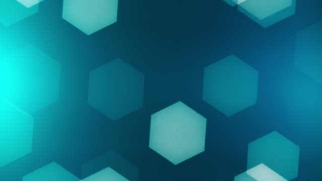 abstract background hexagons - esagono video stock e b–roll
