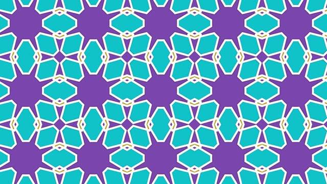 caleidoscopio astratto, caleida double, sfondo forme geometriche, sfondo misto e design accattivante - caleidoscopio motivo video stock e b–roll