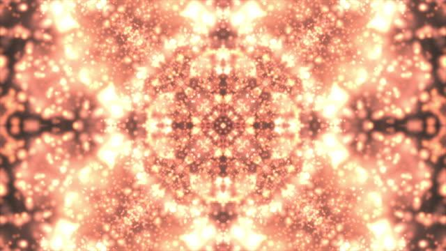 vídeos de stock e filmes b-roll de abstract background kaleidoscope - mosaicos flores