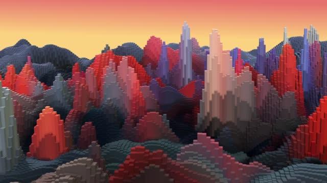 Abstract background, landscape, floor deformation