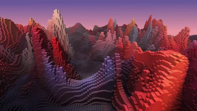 抽象的な背景、風景、床の変形 ビデオ