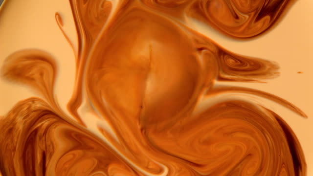 Abstract background. Mixing liquids video