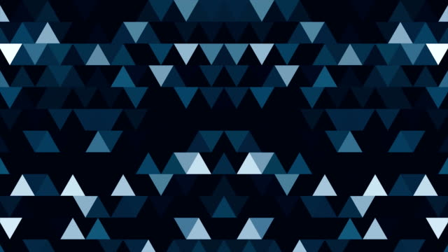 Abstract background of 8-bit minimalism triangles. Abstract geometric shapes, abstract background from geometric shapes in seamless loop video
