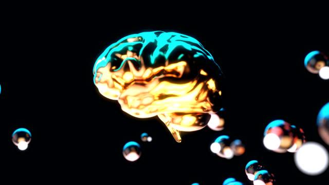vídeos de stock e filmes b-roll de abstract background of a brain and bubbles - filosofia