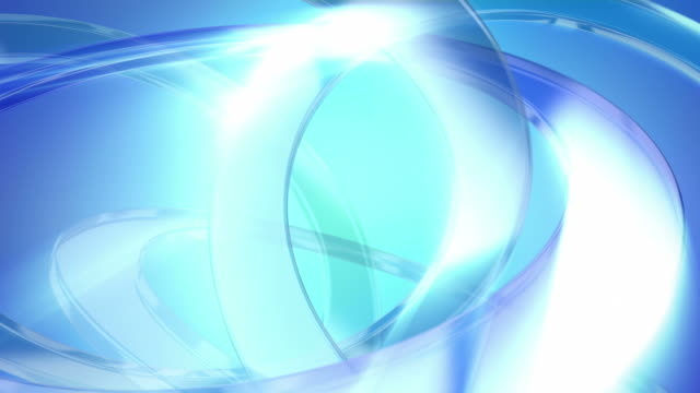 Abstract background of blue glass rings. Loopable. video