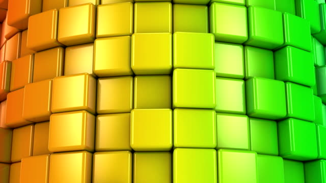 Abstract Background of Color Cubes video