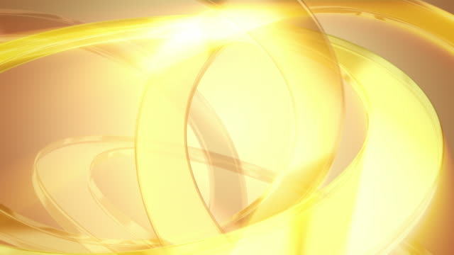 Abstract background of gold glass rings. Loopable. video