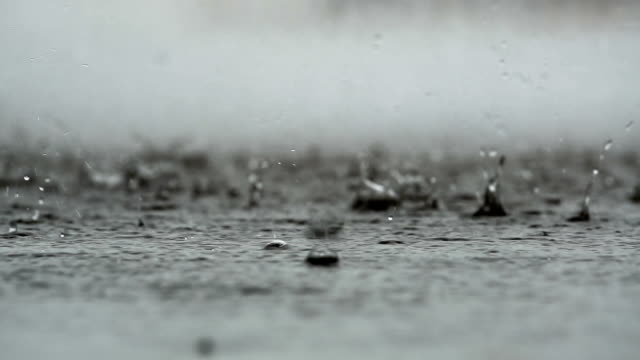 abstract background of rain falling on the ground
