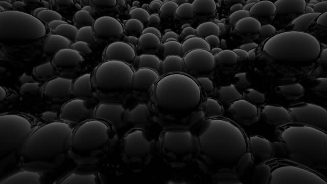 Abstract background of reflective black spheres (preview darker than video) video