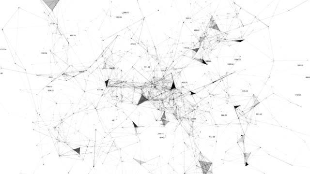 stockvideo's en b-roll-footage met abstracte achtergrond van wetenschappelijke pelxi en cijfers - naadloos patroon