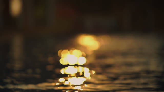 abstract background of water surface sparkle from sunlight - vídeo