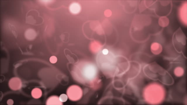 Abstract Background, pink heart shapes for Valentine's Day