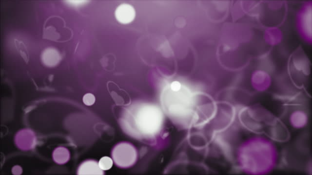 Abstract Background, purple heart shapes for Valentine's Day
