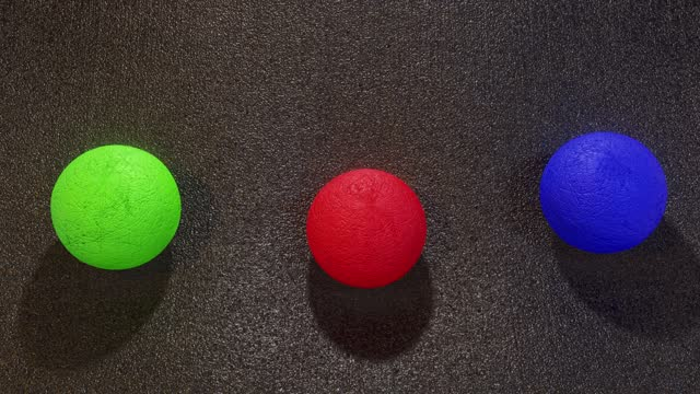 Abstract background spheres dropping soft