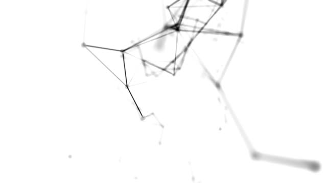 抽象的な背景(ループ) - キラキラ 白背景点の映像素材/bロール