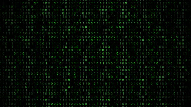 vídeos de stock e filmes b-roll de abstract background - código binário