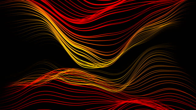 abstract background - waves (loop) - in fila video stock e b–roll