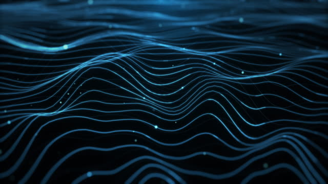 Abstract background - waves Abstract background - waves changing form stock videos & royalty-free footage