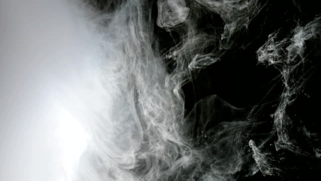 Abstract Background White Paint In Water As Smoke video