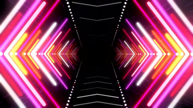 Abstract Background With Animation Of Flight In Abstract Futuristic