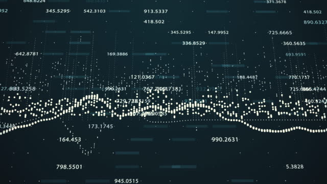 Abstract background with animation of growing charts video