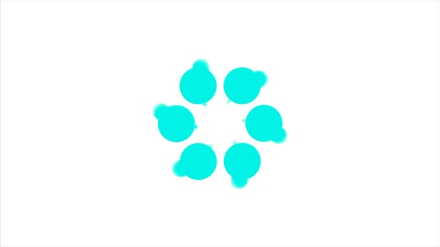 Abstract background with azure rotating polka dots. Azure dot circle video