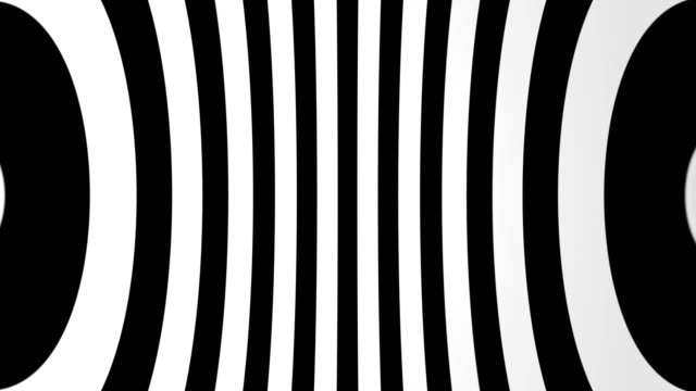 Abstract background with black and white lines Abstract background with black and white lines. Seamless loop illusion stock videos & royalty-free footage