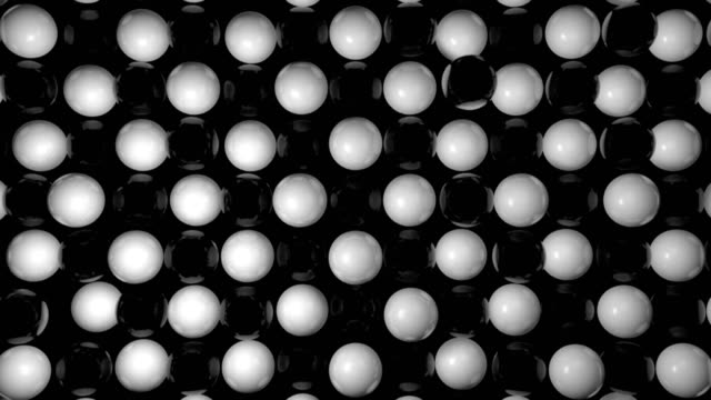 Abstract background with black and white spheres video