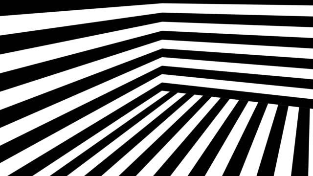 vidéos et rushes de fond abstrait noir et blanc avec bandes - image en noir et blanc