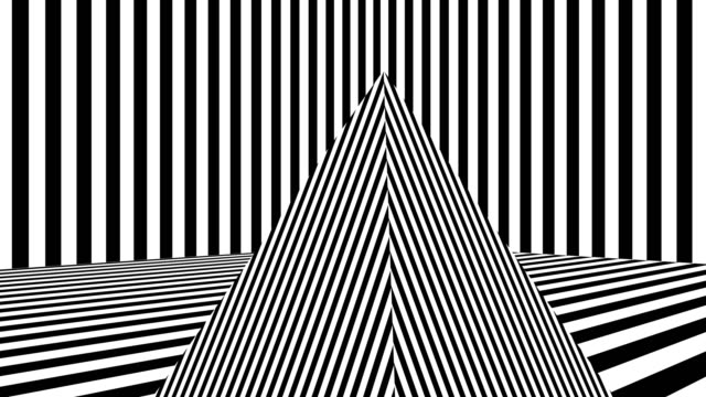 Abstract background with black and white stripes video