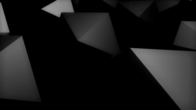 Abstract background with black Platonic video