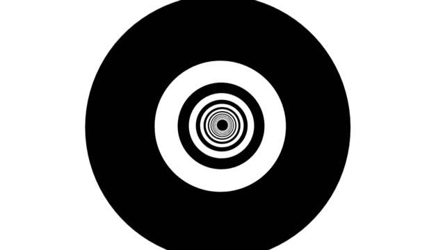 抽象背景與黑白色隧道 - black and white pattern 個影片檔及 b 捲影像