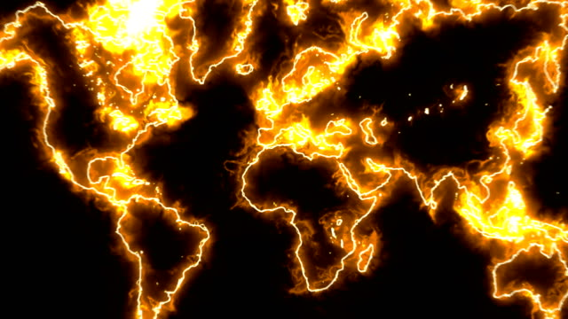 Abstract background with futuristic world map video