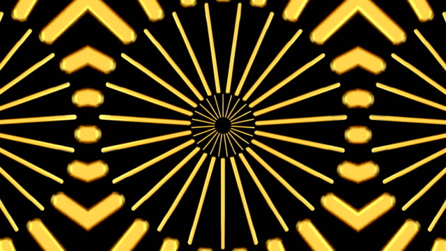 Abstract background with gold kaleidoscope Abstract background with gold kaleidoscope. Seamless loop mosaic stock videos & royalty-free footage