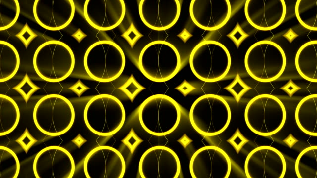 Abstract background with gold light kaleidoscope video