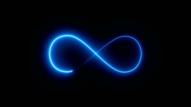 abstract background with infinity sign. digital background - veicolo a due ruote video stock e b–roll