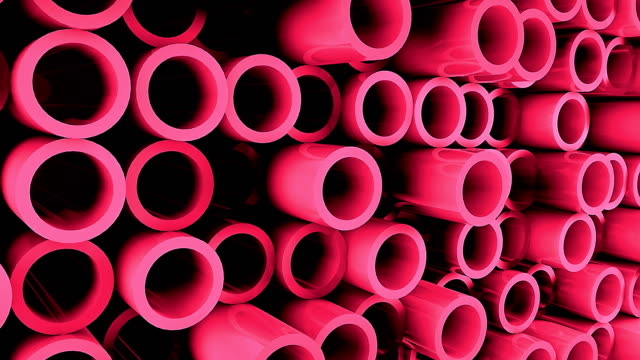 Abstract background with Iron pipes video