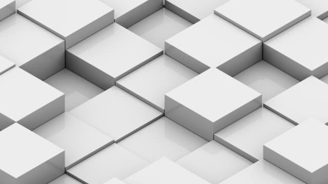 vidéos et rushes de arrière-plan abstrait avec isométrique de cubes - cube