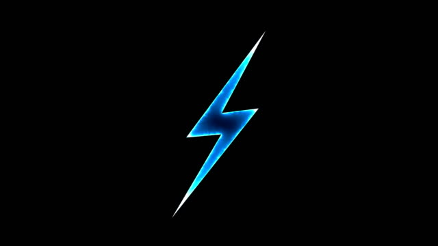 Abstract background with lighting bolt sign. Icon on black background video