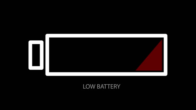 Abstract background with low battery. animation backdrop
