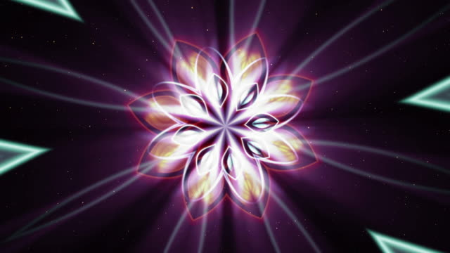 Abstract background with luminous fractal video