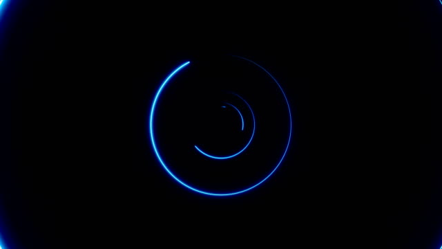 Abstract background with neon circles