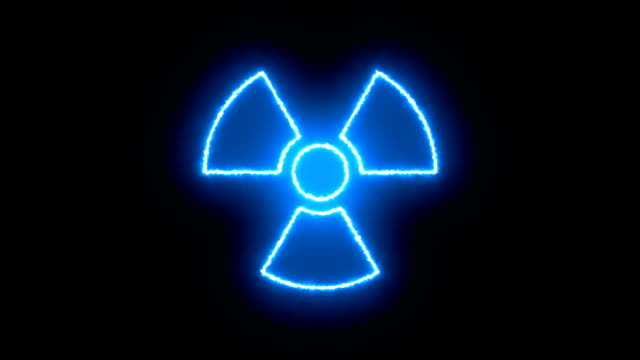 Abstract background with radioactive sign Abstract background with radioactive sign. 3d rendering warning sign stock videos & royalty-free footage
