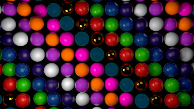Abstract background with realistic 3d spheres. Colorful backdrop video